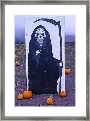 Grim Reaper Sign Framed Print