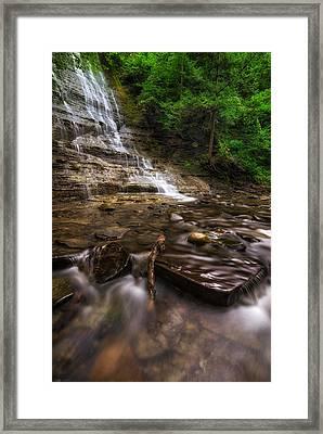 Grimes Glen First Falls Framed Print