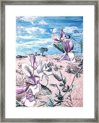 Grimes Vetching Framed Print by Linda Vaughon
