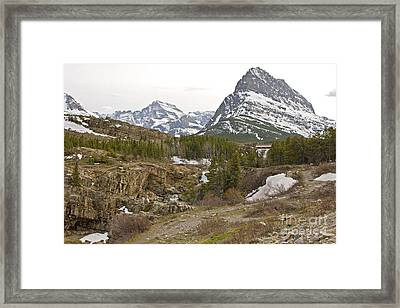 Grindle Mountain Framed Print by Russell Christie