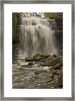 Grindstone Falls Framed Print