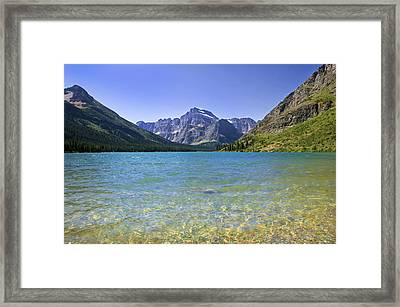 Grinnel Lake Glacier National Park Framed Print by Rich Franco