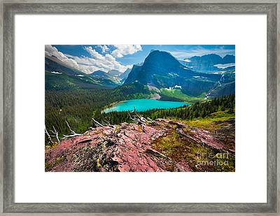 Grinnel Lake Framed Print by Inge Johnsson