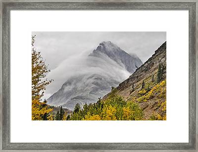 Grinnell Cloud Wrap Framed Print by Mark Kiver