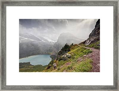Grinnell Glacier Trail Framed Print by Mark Kiver