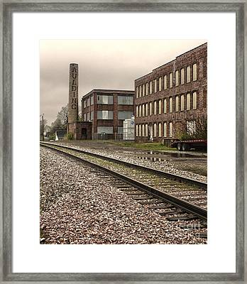 Grinnell Iowa - Aulding Building - 01 Framed Print by Gregory Dyer