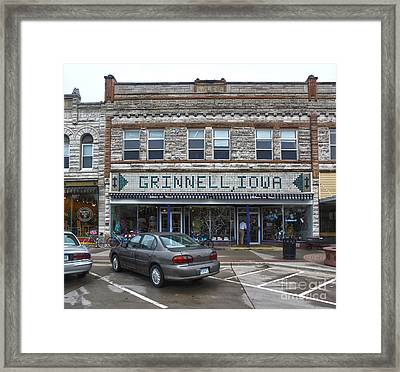 Grinnell Iowa - Downtown - 06 Framed Print by Gregory Dyer