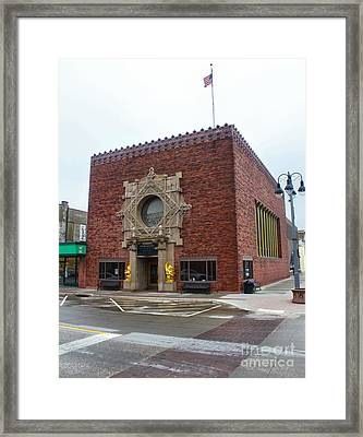 Grinnell Iowa - Louis Sullivan - Jewel Box Bank - 03 Framed Print by Gregory Dyer