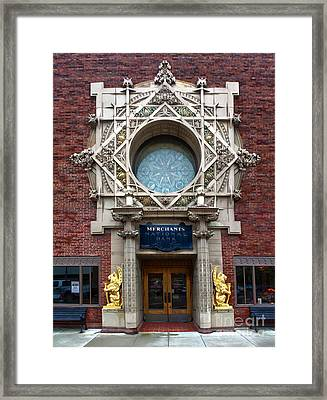 Grinnell Iowa - Louis Sullivan - Jewel Box Bank - 05 Framed Print by Gregory Dyer
