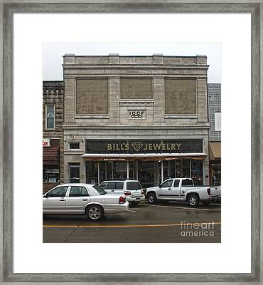 Grinnell Iowa - Odd Fellows Lodge Framed Print by Gregory Dyer