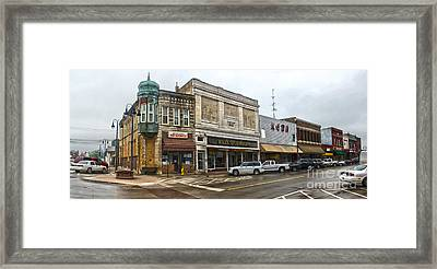 Grinnell Iowa - Downtown - 01 Framed Print by Gregory Dyer