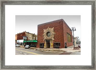 Grinnell Iowa - Louis Sullivan - Jewel Box Bank - 02 Framed Print by Gregory Dyer