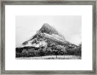 Grinnell Point Black And White Framed Print by Mark Kiver
