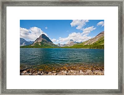 Grinnell Point From Swiftcurrent Lake Framed Print