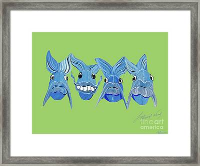 Grinning Fish Framed Print by Lizi Beard-Ward