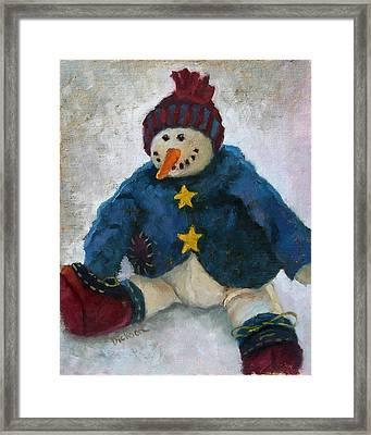 Grinning Snowman Framed Print