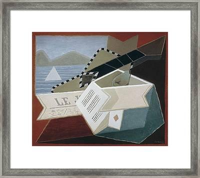 Gris, Juan 1887-1927. Guitar Facing Framed Print by Everett