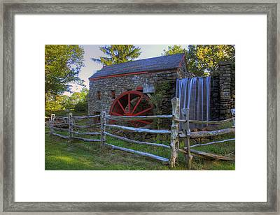 Grist Mill Framed Print by David Simons