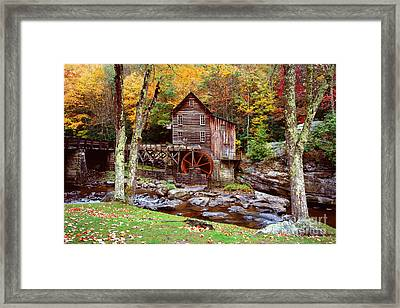 Grist Mill In Babcock St. Park Framed Print