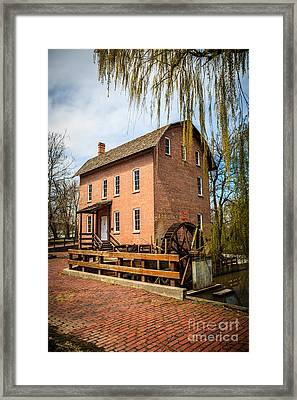 Grist Mill In Deep River County Park Framed Print by Paul Velgos