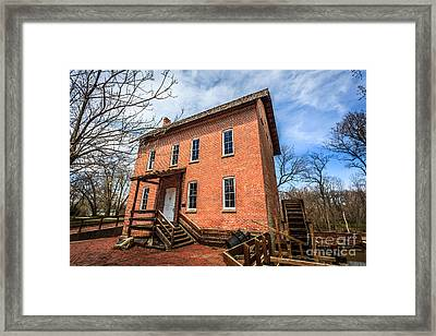 Grist Mill In Northwest Indiana Framed Print by Paul Velgos