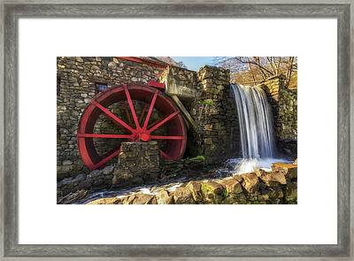 Grist Mill Waterfall Framed Print by Mark Papke