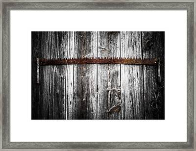Grit Determination And Hard Work Carpenter Framed Print