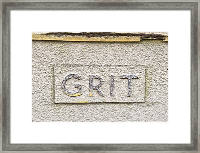 Grit Sign Framed Print by Tom Gowanlock