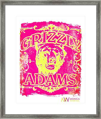 Grizzly Adams Framed Print by Monica Warhol