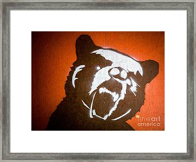 Grizzly Bear Graffiti Framed Print by Edward Fielding