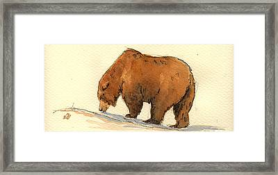 Grizzly Bear  Framed Print by Juan  Bosco