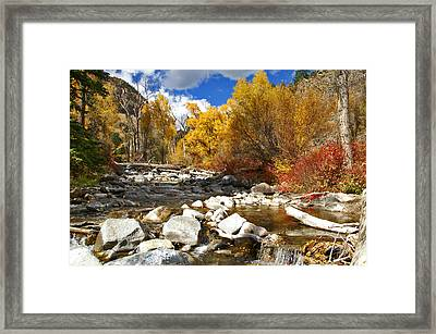 Framed Print featuring the photograph Grizzly Creek Canyon by Jeremy Rhoades