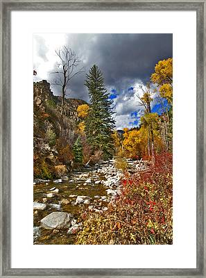 Framed Print featuring the photograph Grizzly Creek Vertical by Jeremy Rhoades