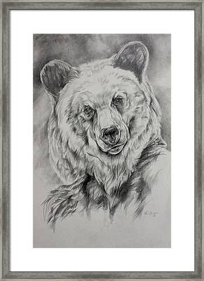 Grizzly Framed Print by Derrick Higgins