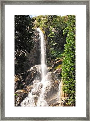Framed Print featuring the photograph Grizzly Falls by Mary Carol Story