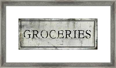 Groceries Framed Print by Aubree Perrenoud