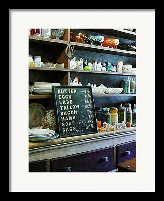 Grocery Price List Framed Prints
