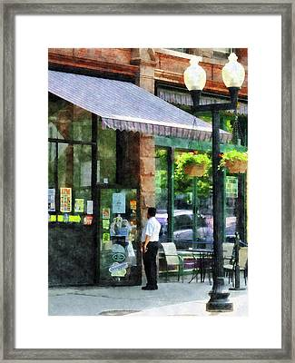 Grocery Store Albany Ny Framed Print