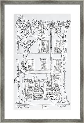 Grocery Store Along Rue Brea, Paris Framed Print