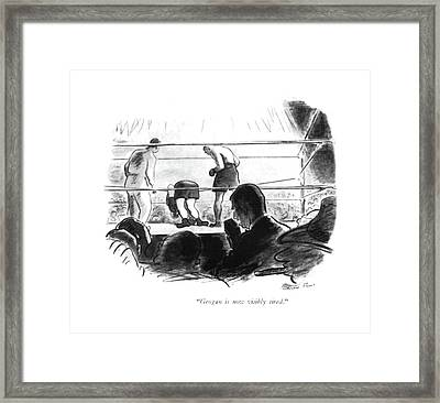 Grogan Is Now Visibly Tired Framed Print
