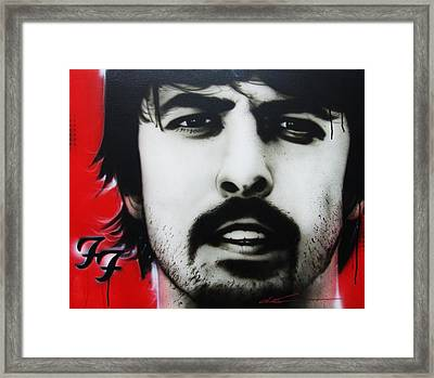 Dave Grohl - ' Grohl ' Framed Print by Christian Chapman Art