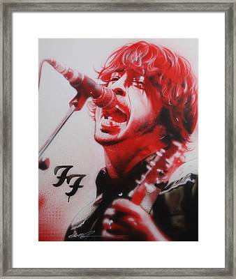 Dave Grohl - ' Grohl II ' Framed Print by Christian Chapman