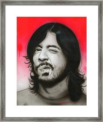 Dave Grohl - ' Grohl IIi ' Framed Print by Christian Chapman Art
