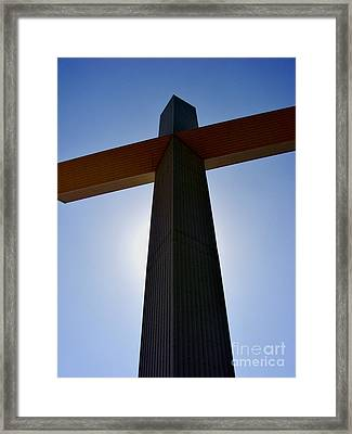 Groom Texas Cross IIi Framed Print by Marilyn Smith