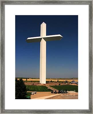 Groom Texas Cross Framed Print by Marilyn Smith