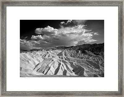 Grooving In Death Valley Framed Print