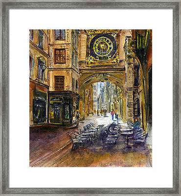 Gros Horlaoge Rouen France Framed Print