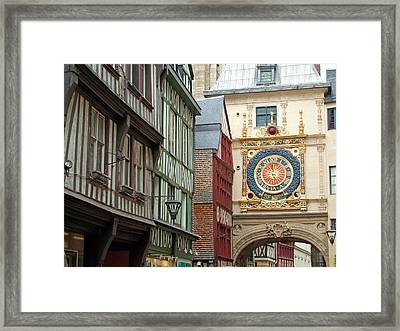 Gros Horloge, Rouen, Normandy, France Framed Print by Alex Bartel