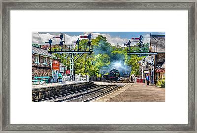 Grosmont Railway Station Framed Print by Trevor Kersley