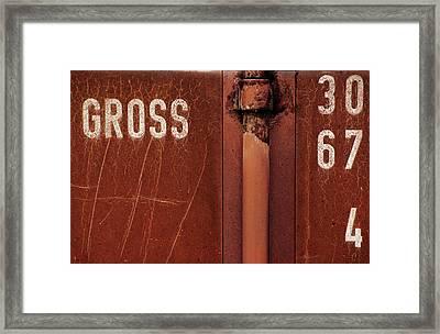 Gross Framed Print